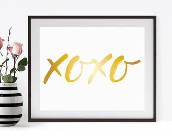 Xo Xo Printable ,XoXo Print Digital Download INSTANT DOWNLOAD
