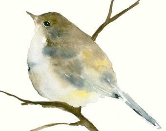Original Watercolor Painting Little Songbird