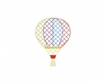 Hot Air Balloon Machine Embroidery Design