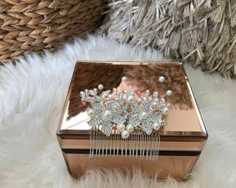 Wedding special occasion Swarovski crystal hairpiece hair accessory