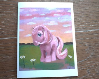 O'Lily Art My Little Pony G1 Vintage Cotton Candy Blank Note Cards w/Envelopes (5 ct.)