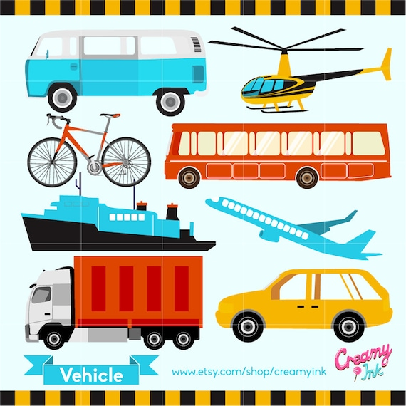 Brand new Vehicles Digital Vector Clip art / Transportation Clipart PL18