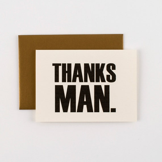 THANKS MAN Thank You Greeting Card