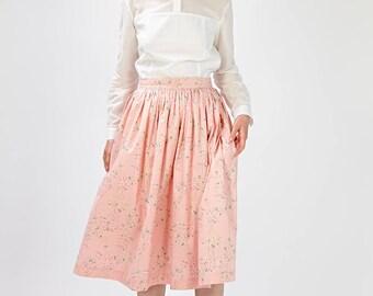 Bridal separates Pink wedding skirt Skirt for a wedding Pink bridal skirt Pink Bridesmaid skirt Floral bridal skirt Boho skirt Handmade