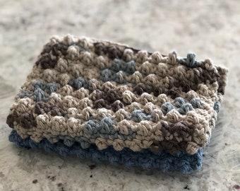 Textured 100% Cotton Crochet Dishcloths - Set of Two