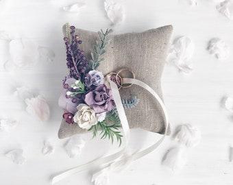 Lavender lilac Ring bearer pillow, Wedding ring pillow, Ring bearer pillow, Ring holder, Wedding decor