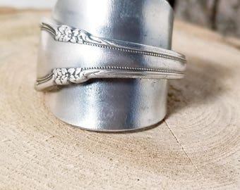 Vintage Demi Spoon Ring Sz 8