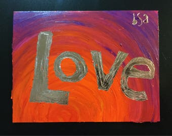 Love Shines Through Hand Painted Notecard