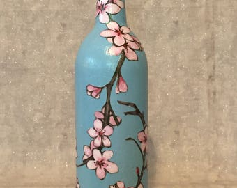 Cherry Blossoms Wine Bottle
