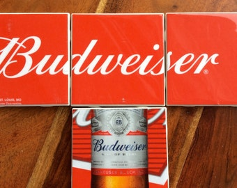 Budweiser Beer Coasters