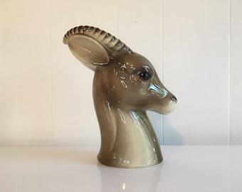 Vintage Royal Copley Gazelle Vase Planter Cute Kitsch Kitschy Nursery Decor Baby 1950s