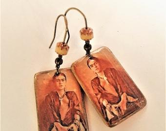 Earrings Frida Sepia
