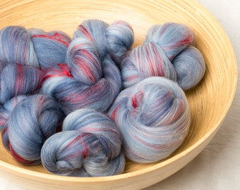 Deliciously soft Merino Cashmere battlings for spinning (170127)