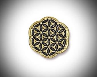 Fleur d'or de vie géométrie sacrée Lapel Pin graine de vie cadeau pour les garçons d'honneur