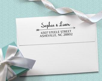 Wedding Gift Return Address Stamper - Self-inking address stamp - wedding gift, housewarming gift, custom stamp for couples