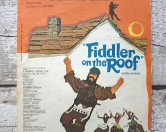 If I Were A Rich Man -Sheet Music from Fiddler on the Roof Topol