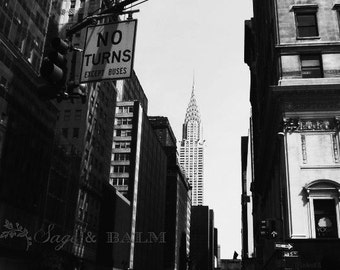 Empire State Building photo print, New York photography, black & white photography, travel photography, architecture, New York skyline, NYC