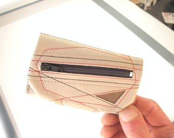 Mini Wallet for men, Wallet keychain combo, Slim faux leather Wallet, Small Wallet, Tiny Wallet, Vegan and Minimalist wallet, Vegan keychain