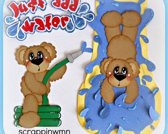 Summer Bears Handmade Scrapbook Embellishment Set 4 Cards Pages Elite4u