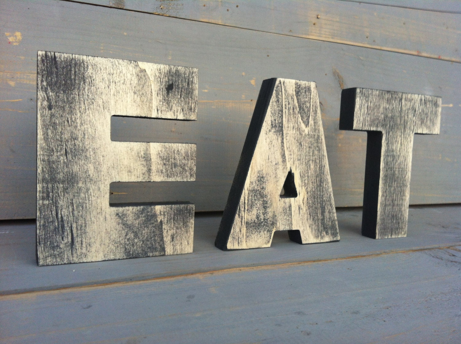 Kitchen Letters For Wall Big Eat Wall Kitchen Art Sign Kitchen Decor Vintage