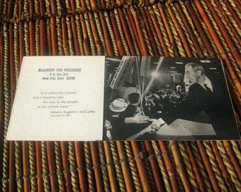 Presidential Campaign Pamphlet Folder  Eugene McCarthy 1967