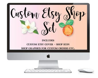 Custom Etsy Banner Set - Etsy Shop Starter Package - Custom Shop Banner - Custom Etsy Shop Branding - Custom Shop Set - OOAK Shop Banner