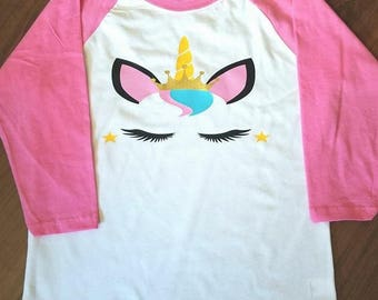 Unicorn princess raglan