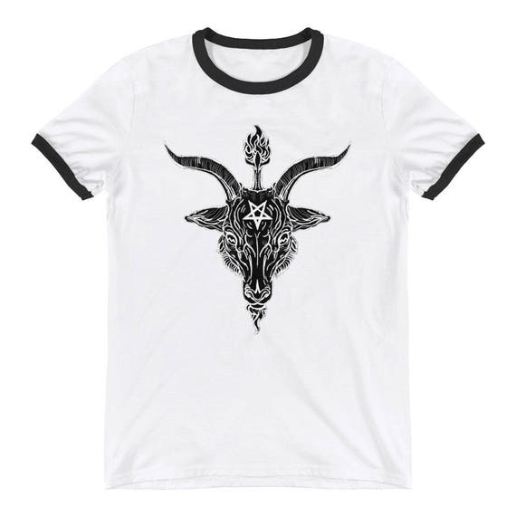 Black Phillip Baphomet Ringer T-Shirt