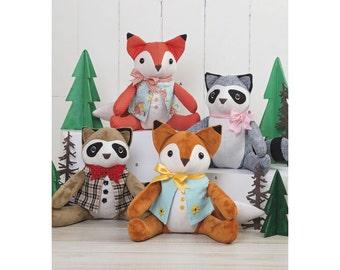Simplicity Sewing Pattern 8313 Stuffed Animals