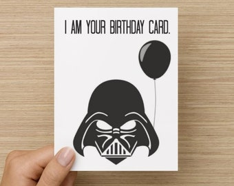 Greeting card lets get lit happy birthday card tumblr i am your birthday card birthday card star wars card darth vadar card bookmarktalkfo Gallery
