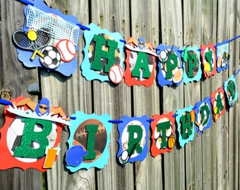 All Star Sports Birthday Party Banner, All Star Sports Banner, Sports Party, Sports Baby Shower, Sports Theme Banner