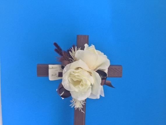 Cemetery cross, grave decoration, memorial cross, the ORIGINAL Floral Memorial