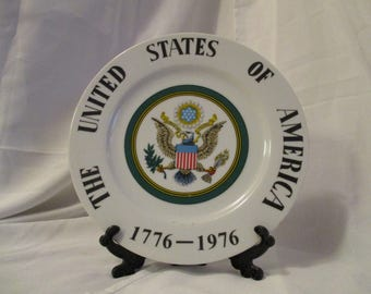 Vintage United States of America Centennial Decorative collectible plate