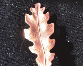 Oak Leaf Hair Clip