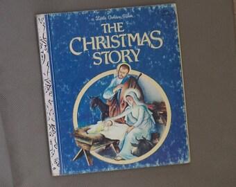 Little golden book , Children's story book , Vintage story book , The Christmas story ,1952 little golden book,