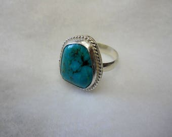 Bisbee Turquoise set In Sterling Silver