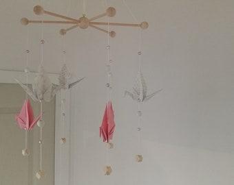 Mobile origami birds