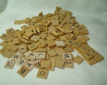1948 and 1980 Wooden Scrabble Letter Tiles.