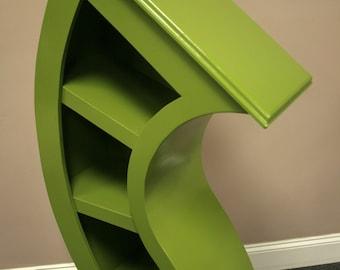 Handmade 4ft Curved Bookshelf, choose color