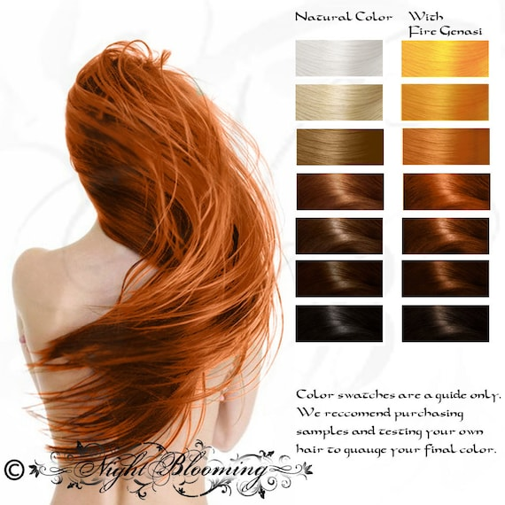 Bright Copper Fire Genasi Herbal Hair Color and Conditioner