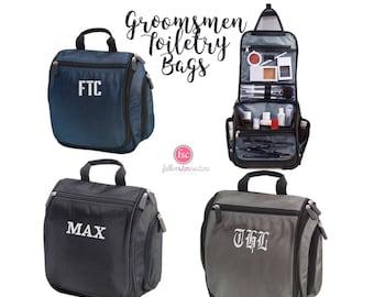 groomsman gifts , hanging toiletry bag , personalized mens toiletry bag , monogrammed groomsman toiletry bag , groomsman toiletry bags