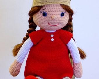 Poupée crochet, poupée amigurumi, Poupette au crochet, cadeau d'anniversaire