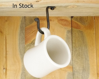 Small Under Cabinet Hook - Purse Hook - Cup Hook