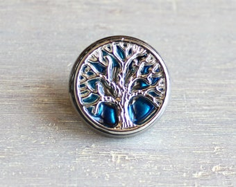 sky blue tree of life tie tack, mens gift, mens jewelry, groomsmen gift, wedding jewelry, father of the bride, anniversary gift, lapel pin