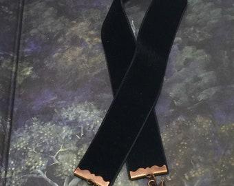 Fox velvet  Ribbon Bookmark Long