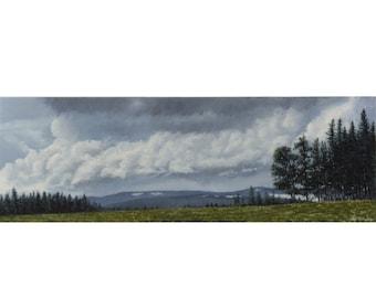 west coast landscape, bc painting, original painting, traditional painting, farm landscape, detailed painting, oil painting, canadian art