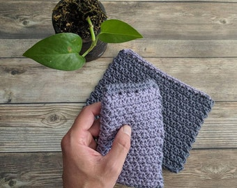 Cotton Dishcloth Set, Crochet Dishcloths, Reusable Dishcloths, Handmade Dishcloths, Dishcloth Set