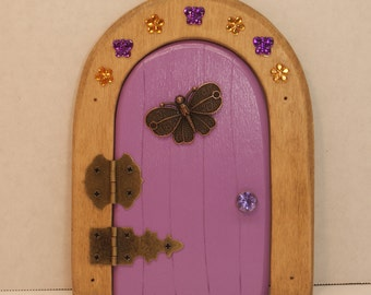 Fairy Door,Light Purple with a Copper Butterfly