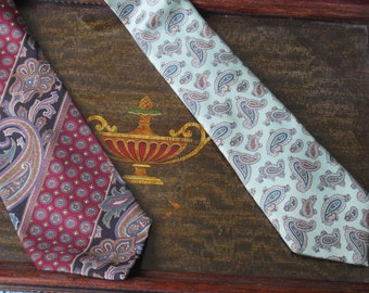 1980's 100 % Silk Paisley Ties/ New Old Stock!!