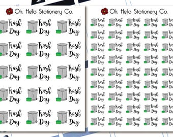 Planner Stickers Trash Day Icons - for Erin Condren Life Planners - P4